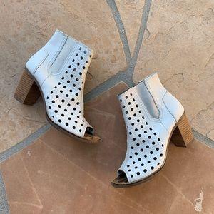 TOMS Majorca Basket Weave Leather Peep Toe Boots